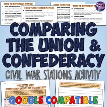 Civil War Stations Activity: Comparing the Union and Confederacy