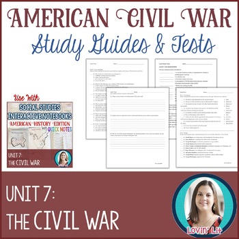 Civil War Study Guides and Tests