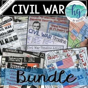 Civil War: Supplemental Activities, Worksheets, and Assessments