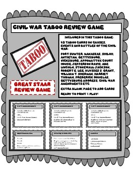 Civil War Taboo