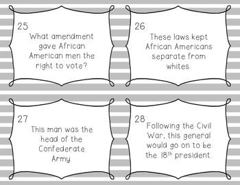 Civil War Task Cards
