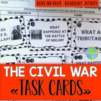 Civil War Task Cards - Black and White