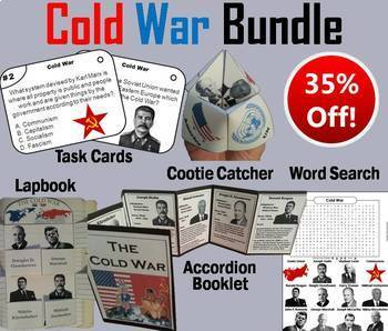 Cold War Task Cards and Activities Bundle