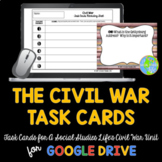 Civil War Task Cards and Recording Sheet