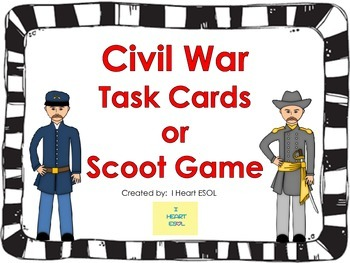 Civil War Task Cards or Scoot Game