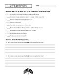 Civil War Test - 5th Grade