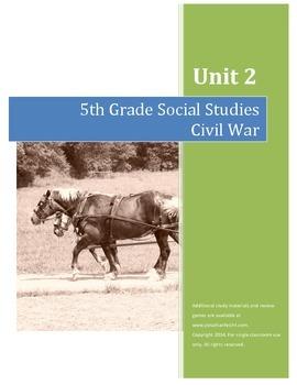 Civil War Test--5th Grade Social Studies