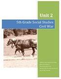 Civil War Test AND Completed Study Guide Combo--5th Grade Social Studies
