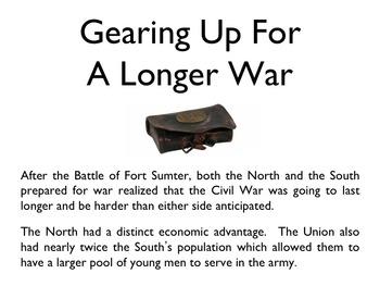 Civil War - The Battle Of 1861 & 1862 PowerPoint