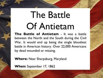 Civil War - The Battle Of Antietam PowerPoint