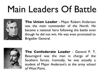 Civil War - The Battle Of Fort Sumter PowerPoint