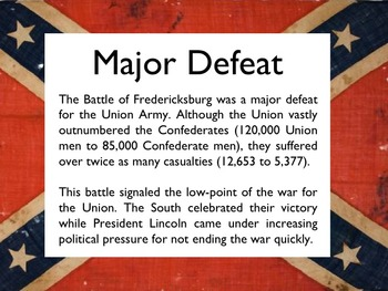 Civil War - The Battle Of Fredericksburg PowerPoint