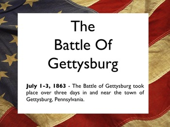 Civil War - The Battle Of Gettysburg PowerPoint