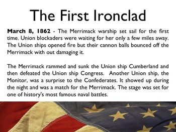 Civil War - The Battle Of Ironclads PowerPoint