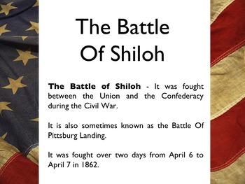 Civil War - The Battle Of Shiloh PowerPoint