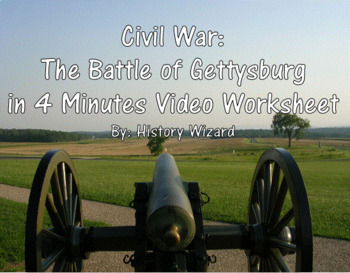 Civil War: The Battle of Gettysburg in 4 Minutes Video Worksheet