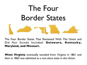 Civil War - The Border States PowerPoint