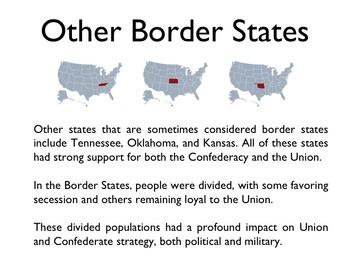Civil War - The Border States PowerPoint