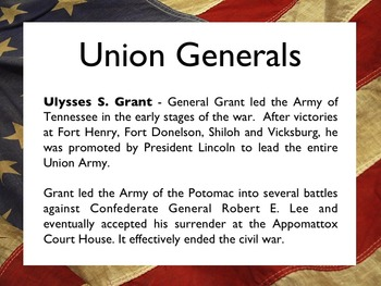 Civil War - The Civil War Generals PowerPoint