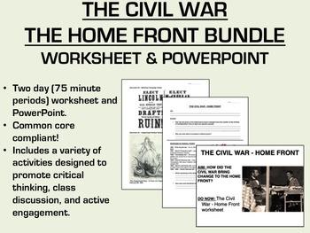 The Civil War - The Home Front Bundle - US History/APUSH Common Core