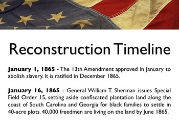 Civil War - The Reconstruction Era PowerPoint