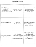 Civil War Tic-Tac-Toe Review Game