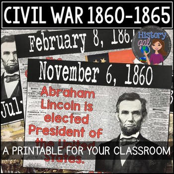 Civil War Timeline {A Printable for Your Classroom}