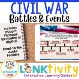 Link & Think Digital Guide - Civil War {Google Classroom Compatible}