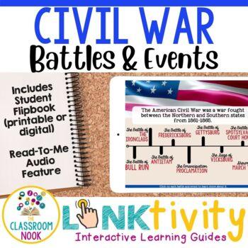 Link & Think Digital Guide - Civil War {Google Classroom Compatible}