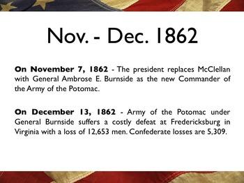 Civil War - Timeline Of The Civil War PowerPoint