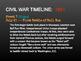 Civil War Timeline PowerPoint & Handout