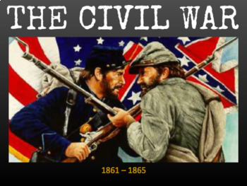 Civil War Timeline Slideshow & Graphic Organizer [Google Slides]