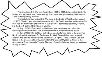 Civil War Timeline Project