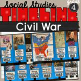 Civil War Timeline 4th grade SS4H5 Bulletin Board Display