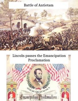 Civil War Timeline Sort