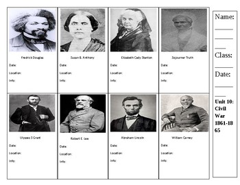 Civil War Trading Cards