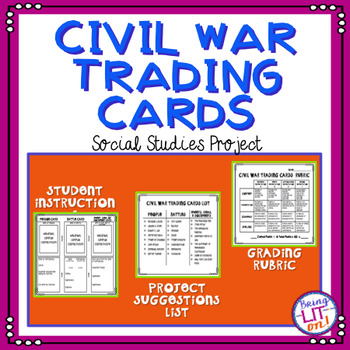 Civil War Trading Cards Project