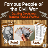 Famous People of the Civil War - Trading Cards and Posters