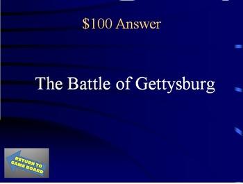 US History:  Civil War Trivia Game