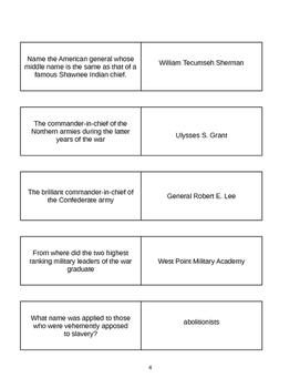 Civil War Trivia Game