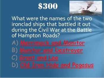 US History: Civil War Trivia Game Fun Stuff!