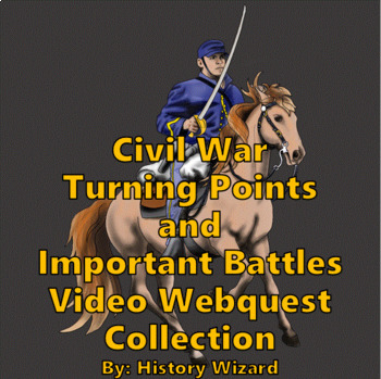 Civil War Turning Points and Important Battles Video Webquest Collection