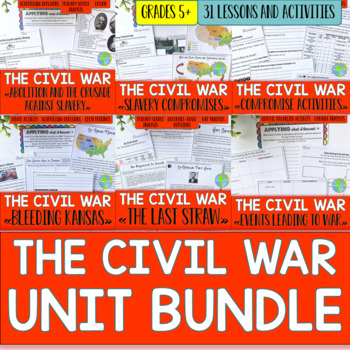 Civil War UNIT BUNDLE with BONUS Activities