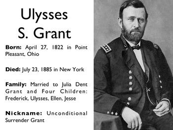 Civil War - Ulysses S. Grant PowerPoint