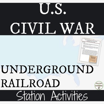 US Civil War Underground Railroad Informational Text and 4