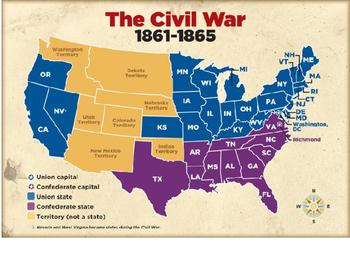 Civil War Union Strategy Map