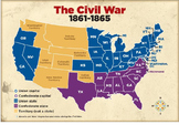 Civil War Union Strategy Map