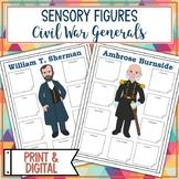 Civil War Union and Confederate Generals Sensory Figures