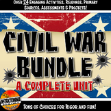Civil War Complete Unit Activity Bundle Grades 6, 7 and 8: