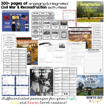 Bundle - Civil War - Task Cards, Activities, Informational & Nonfiction Texts